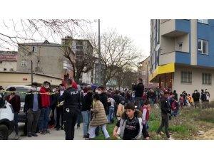 Arnavutköy'de korkutan yangında, kısıtlama hiçe sayıldı