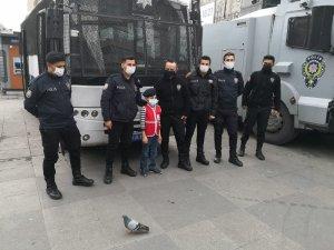 Engelli çocuğun polis olma hayali gerçek oldu