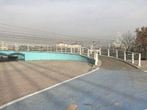 Yaya köprüsündeki otomobil şaşırttı