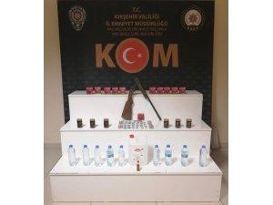 Kırşehir'de sahte içki ve kaçak cinsel uyarıcı hap operasyonu