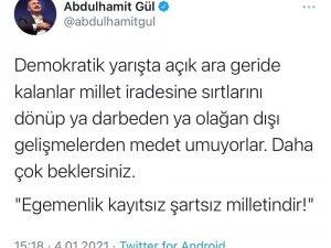"""Bakan Gül'den darbe söylemlerine tepki: """"Daha çok beklersiniz"""""""