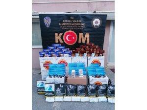 Kocaeli'de 152 bin 120 adet kaçak makaron ele geçirildi