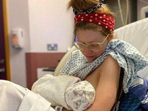 Ünlü oyuncu Jessie Cave'in bebeği coronaya yakalandı