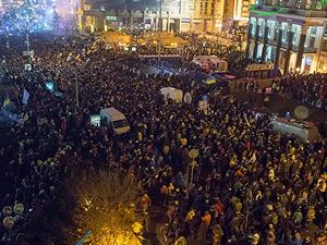 Kiev'de çatışma!