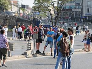 Turistlerin 1 Mayıs'ta zor anları!