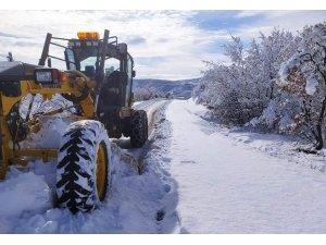 Arguvan'ın yüksek kesimlerinde kar etkili oluyor