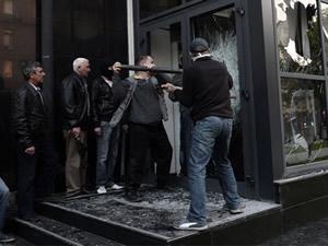 Ukrayna'da Devlet Güvenlik Servisi işgal edildi!