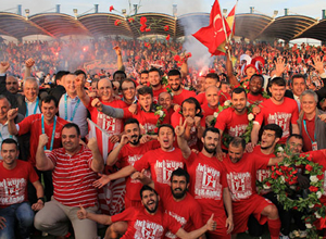 Balıkesirspor 40 yıl sonra Süper Lig'e yükseldi!