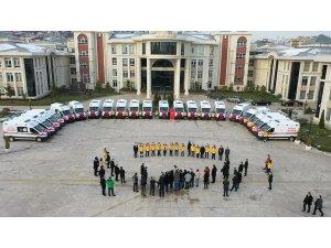 Kocaeli'de sağlık hizmetlerine 30 yeni ambulans desteği