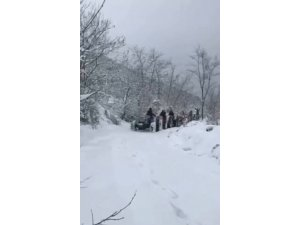 Karda traktörlerle drift