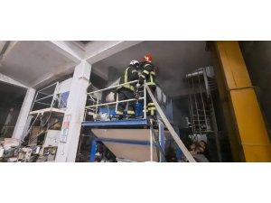 İtfaiyenin zamanında müdahalesi fabrikayı yanmaktan kurtardı