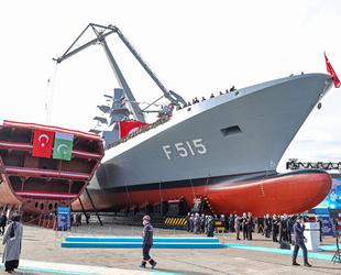 TCG İstanbul (F-515) Fırkateyni denize indirildi