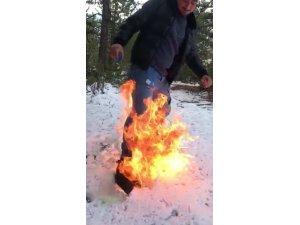 Ateşi benzinle harlaması faciaya neden oluyordu