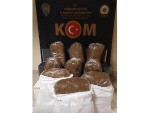 Kırşehir'de, kaçak tütün operasyonu