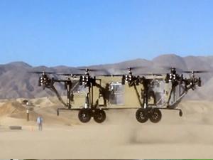 Uçan kamyon ilk testi geçti