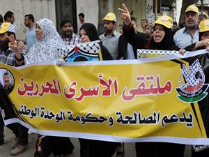 Açlık grevi yapanlara Gazze'den destek