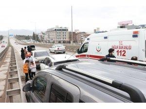 6 aracın birbirine girdiği kazada 2 çocuk yaralandı