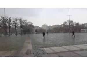 Gaziantep'te dolu yağışı