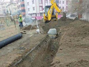 Iğdır'da kanalizasyon ve içme suyu şebeke hattı çalışmaları
