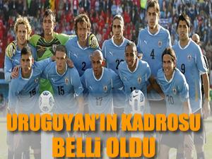Uruguay'ın 25 kişilik Dünya Kupası kadrosu belirlendi