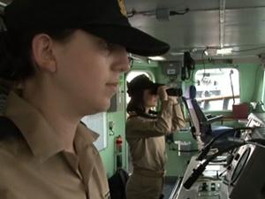 Kadın subaylar tarihe geçti