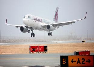 Qatar Airways uçağı Hamad'a iniş yaptı