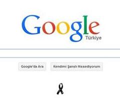 Google'dan Soma faciası için siyah kurdele