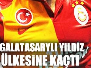 Galatasaray'lı futbolcu ülkesine kaçtı !