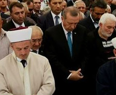 Erdoğan gıyabi cenaze namazında