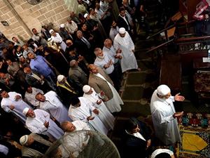 Gazze'de Madenciler için gıyabi cenaze namazı kılındı