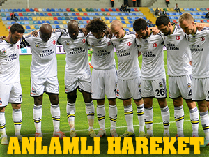 Fenerbahçe'den gol sonrası anlamlı hareket