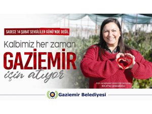 Gaziemir Belediyesi personellerinden anlamlı 14 şubat mesajı