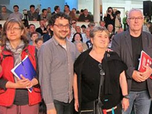 İspanya'da Soma Madencileri için saygı duruşu