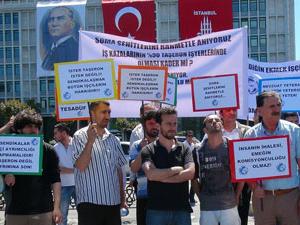 İBB önünde taşeron protestosu