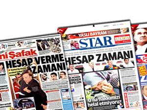 4 gazete'de  aynı manşet