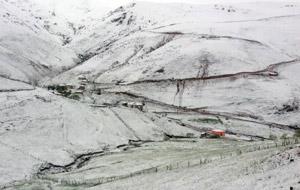 Giresun'un yaylalarına kar yağdı!
