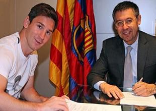 Lionel Messi, Barcelona ile sözleşme yeniledi