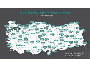 Samsun, Ordu ve Sinop'ta vakalar arttı, Amasya'da azaldı