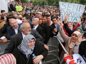 Recep Tayyip Erdoğan Almanya'da böyle karşılandı
