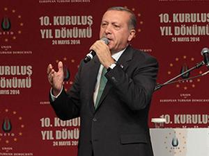 Erdoğan Almanya'da konuştu