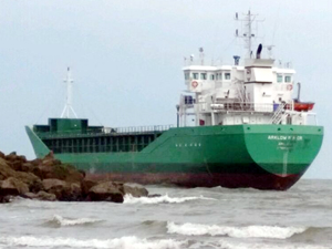 Arklow Ruler adlı gemi, Drogheda'da karaya oturdu