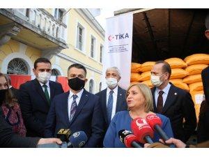 Arnavutluk'ta selden zarar gören çiftçilerin imdadına TİKA yetişti
