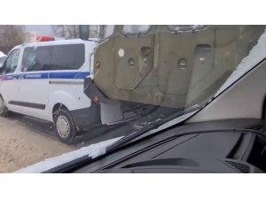 Moskova'da S-400 taşıyan araçlar zincirleme trafik kazasına karıştı