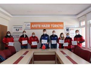 """Dorlion'a """"Hafif Arama Kurtarma Eğitimi"""" katılım belgeleri verildi"""