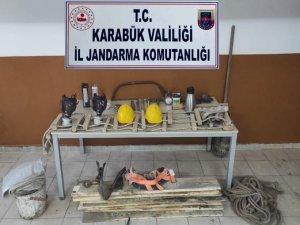 Karabük'te kaçak kazı yapanlara suçüstü