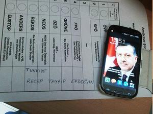 AP seçimlerinde Başbakan Erdoğan'a oy