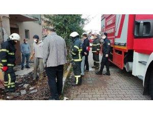 Gaz, yıkım yapılacak evde yangına sebep oldu