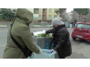 Maltepeli kadınlar, belediyeye destek için çöp topladı