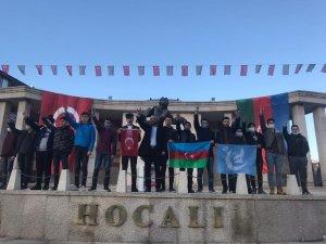 Ülkü Ocakları Hocalı anıtını ziyaret etti
