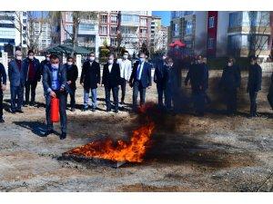 Yeşilyurt'ta yangın ve ilk yardım eğitimi